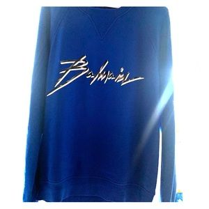 BALMAIN SIGNATURE SWEATSHIRT- BLUE